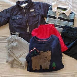 Lot baby boys clothes 12 to 18 mos